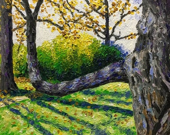 "Original Acrylic Impressionist style Impasto Painting ""Branching Out"" 11x14"