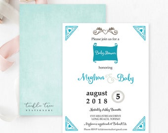 Baby Shower Invitations  - It's a Boy/Decorative Elements (Style 13548)