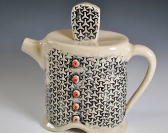 Handmade Ceramic Teapot,  Creamer, Cream Pitcher, Funky Teapot