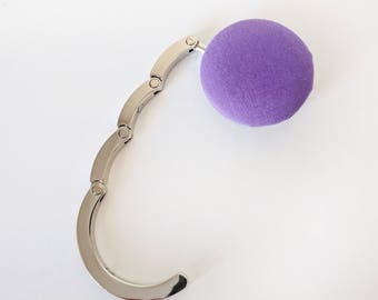 Handbag Hook,  Purse Hook Hanger, Bag Hook,  Folding Purse Hanger in Purple