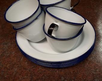 Ker Sweden Enamelware Cups & Plates