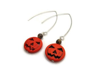Small Jack-O-Lantern Earrings