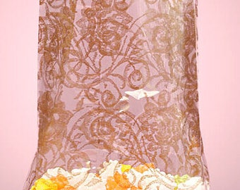 """Small """"Gold Lace"""" Print Cello Treat Snack Goodie Bags Cellophane Baggies (Free Shipping!)"""