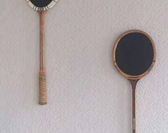Repurposed Vintage Raquet Chalk Boards Notice Boards Blackboards