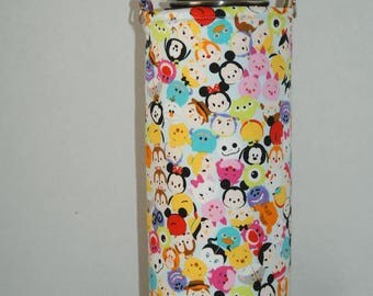 """CHOOSE YOUR SIZE for Made to Order Insulated Hydro Flask Holder with Interchangeble Handle and Strap Made with """"Tsum Tsum - Colorful #3"""""""