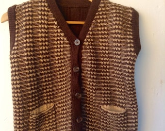 Warm suggy  knitted soft festival woollen  vest