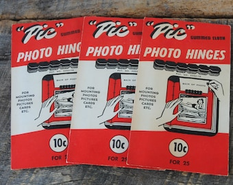 Vintage Photo Hinges 3 Packages by Mounties Inc of Boston Mass