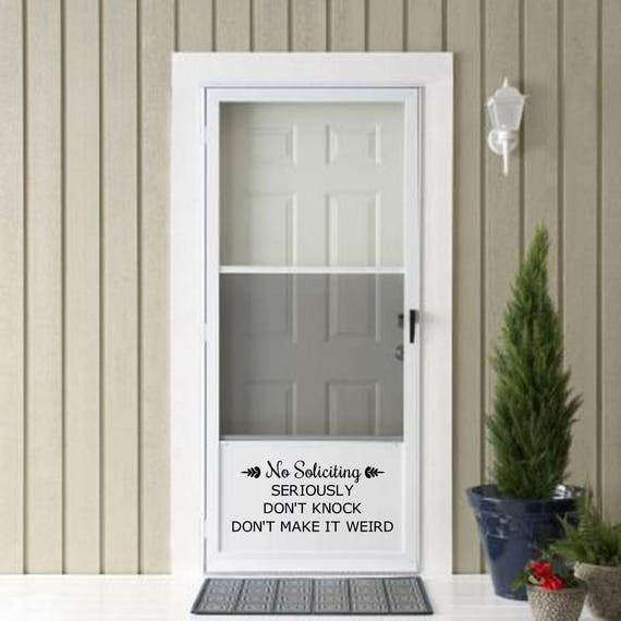 No Soliciting Decal Home Depot