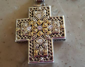 Gold, Silver, and Bling large cross