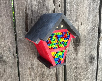 Mason Bee House, B Cozy Home For Pollinator Bugs, Ladybug Handmade Straw Bug Nest Box, Flower Garden Pollination Helper Item #535551617