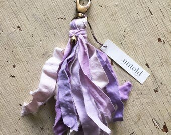 Purple Tassel Zipper Charm. Pocket Garland. Key Fob. Tassel Key Ring. Tassel Key Chain. Purse Tassel. Mini Garland Tassel. Gifts under 15.