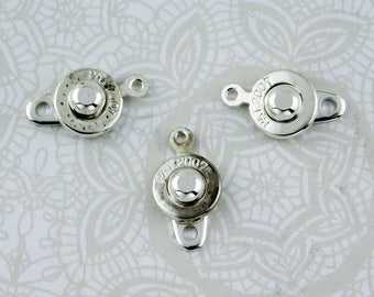 8mm Ball and Socket Clasps_Silverplate_3 sets_Bracelet Catch_Jewelry Design_Secure Clasp_Bridal Jewelry