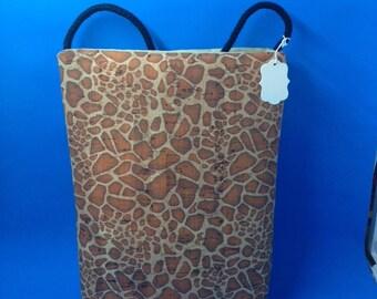 Natural CORK Crossbody Bag - Cheetah Print - Vegan Friendly