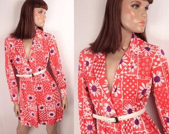 60s mod wrap dress // le chat