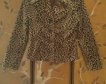 80s Faux leopard crop jacket by Lucca
