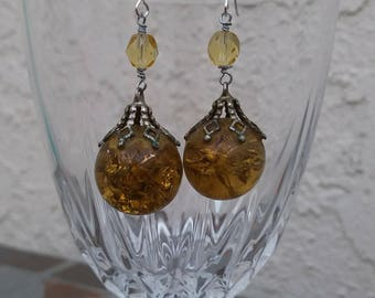 Amber Marble Earrings
