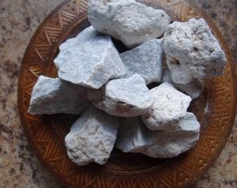 ANGELITE/CELESTITE Stone Gemstone Crystal Raw 4 oz Wiccan Pagan Metaphysical Reiki Chakra Supply