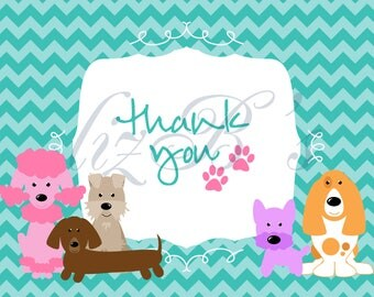 DIGITAL Pretty Pup Thank You Notes
