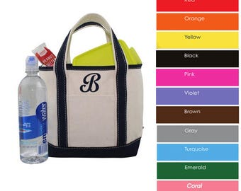 Monogram Canvas Tote Bag | SMALL Monogram Tote Bag | Personalized With Name Or Monogram | Flower Girl Tote Bag | Monogram Bridal Gift