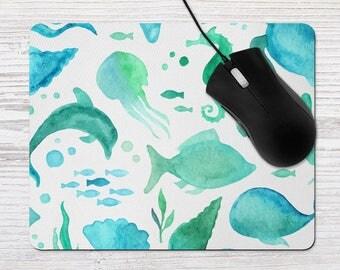 beach office decor. beach office decor mouse pad nautical mousepad watercolor accessory c