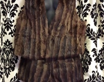 RARE 60's Ermine Fur 2 piece Outfit
