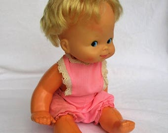 SALE 20% OFF Vintage Mattel 1974 Baby That-a-Way Doll