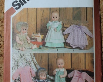 "Simplicity Vintage Sewing Pattern 5615 Doll Clothes size 15"" 16"" Tiny Tears, Dy-Dee1982"