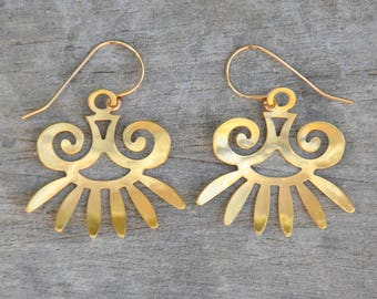 Aztec inspiration earrings