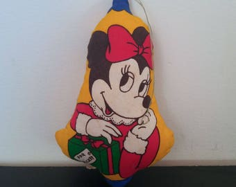 Vintage 70s/80s Minnie Mouse Plush Christmas Ornament