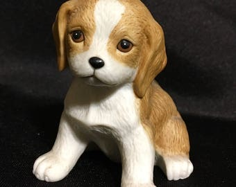Homco Porcelain Puppy Figurine
