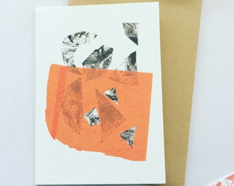 Abstract collage greeting card . Cards . Abstract . Modern stationery