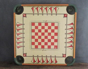 Vintage Carrom Board, Board Game, Game Room Wall Decor, Games Room Decor, Unique Vintage Home Decor, Wall Art