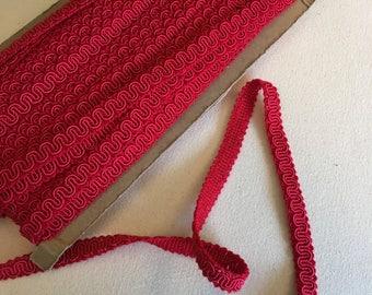 Red gimp cording
