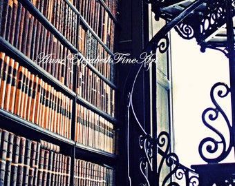 Ireland Photography, Trinity College, Library, Dublin, Staircase,Books, Antique Books, Library Art, Irish Art, Pub Art,Dorm Decor, Book Art
