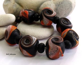 Harvest Nights, Lampwork Beads, SRA, UK