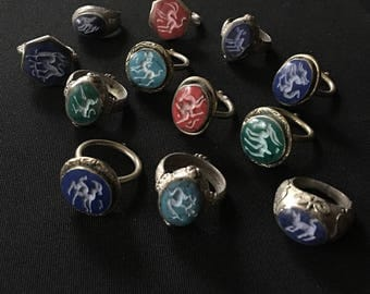 Wholesale Lot of 12 Kuchi Tribal Carved RINGS KR1 Theater Belly Dance Costume Jewelry Uber Kuchi®