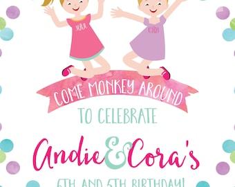 Watercolor Girl Birthday Invitation