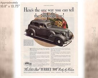 Ladies Home Journal 1935 Car Turret Top ad, old 1930s ad Magazine Advertisements Antique Vintage Paper Ephemera historical art print ad 20