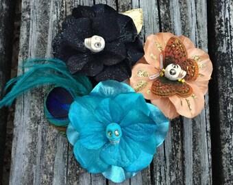 SKULL MAGIC Flower Hair Clip gift set