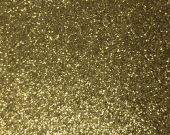Pack of 10 Gold Sparkle Glitter Card Stock Cardstock 8.5 x 11