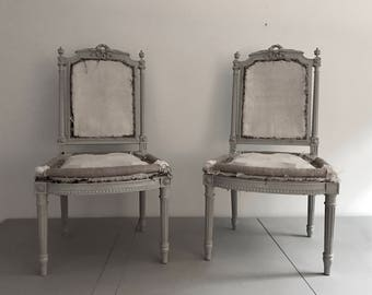 Hold for cb//Pair of French Chairs