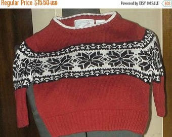 35% off Sale Winter wonderland Sweater Kids 6-9 Months Red