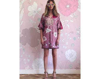Perfect summer party floral dress made of organic cotton