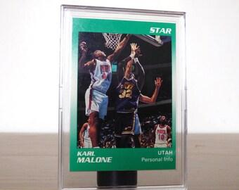 Star Co. 1990 Karl Malone Utah Jazz Basketball Card NBA Basketball