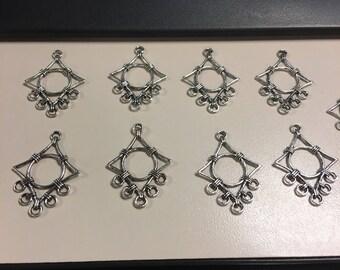 Ear chandelier - diamond shaped