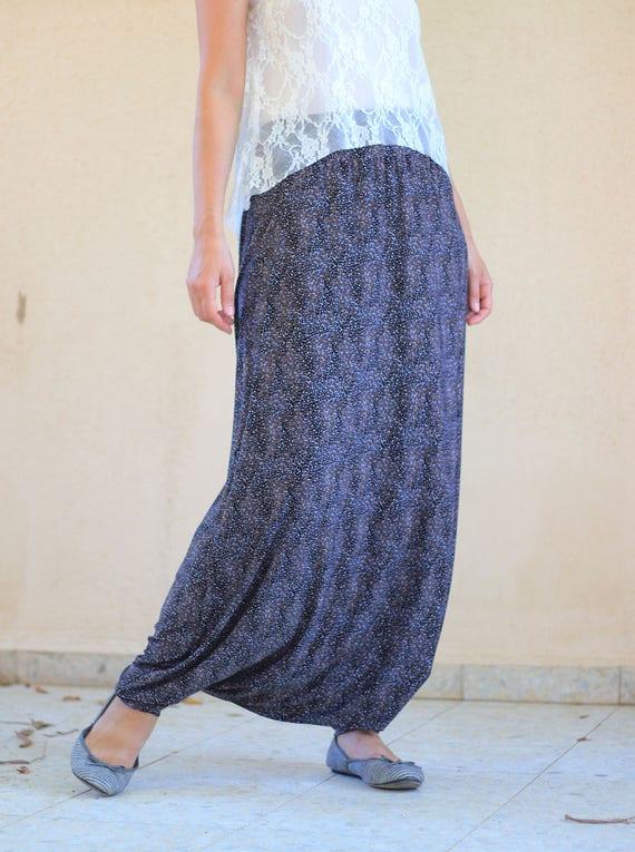 Simple Low Crotch Harem Pants Women ESiamCenter