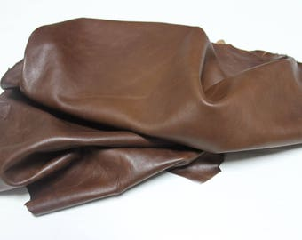 Italian Lambskin Lamb leather skin skins hide hides BROWN 7sqf #A2422