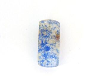 Dumortierite Quartz Gemstone 9.3x24.6x6.9 mm  13.1 carats Free Shipping
