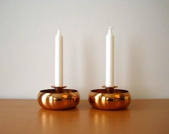 Vintage Coppercraft Guild Candle Holders