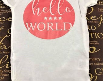 Hello World Onesie | Body Suit